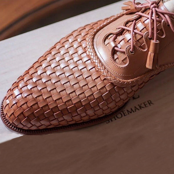 Fashionable Men's Knitted Casual Shoes