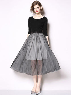 High Quality Vintage Chic Black Tulle Chiffon Vneck Long Sleeve Lace Luxury Slim Evening dress - Arceey