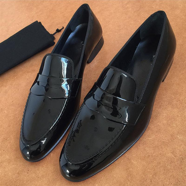 Italian Glossy Men's Leather Shoes