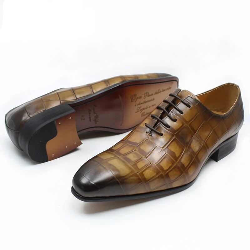 NEW STYLE MEN LEATHER SHOES BROWN BLACK COLOR