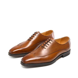 Retro Wingtip Men Brown Black Oxfords Shoes