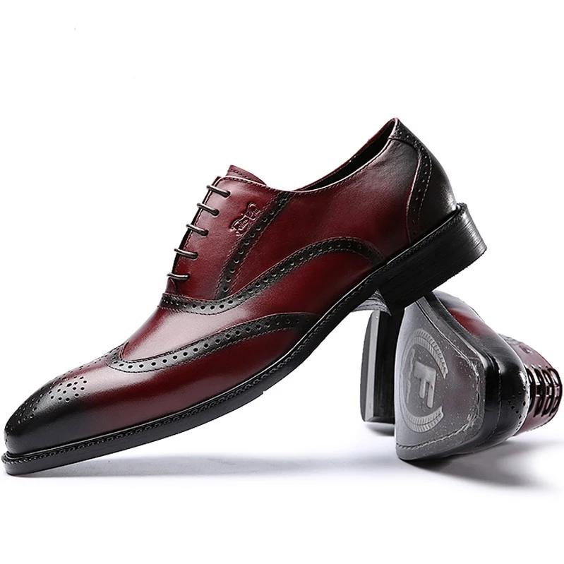 Men Genuine Leather Shoes Italian Design
