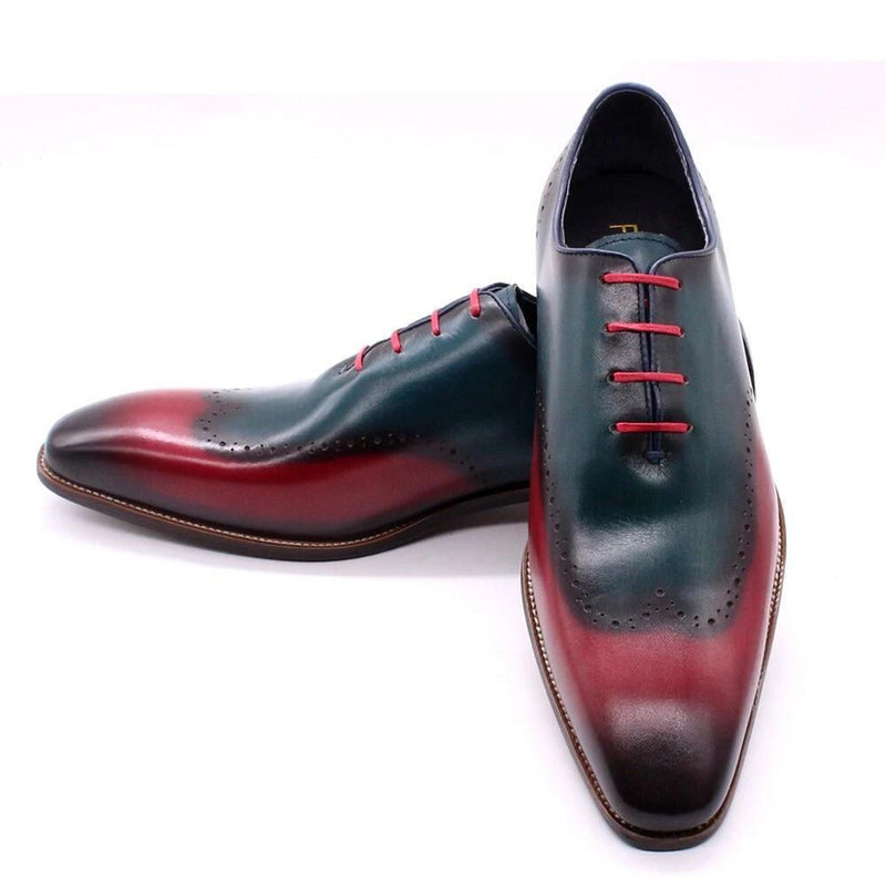 Men Wingtip Oxford Shoes Hand Painted