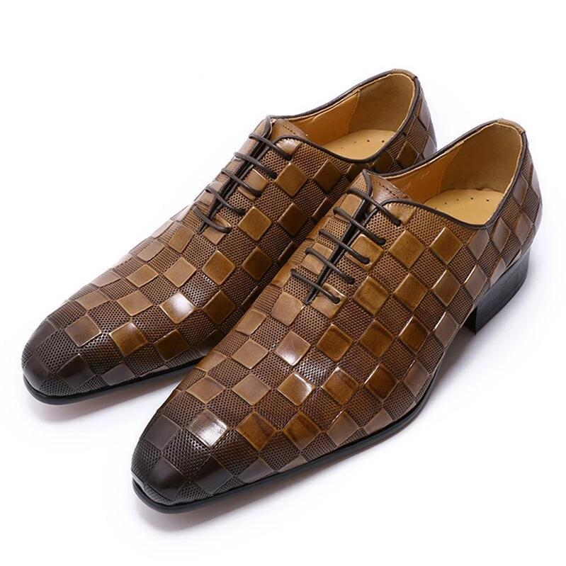LUXURY ITALIAN LEATHER SHOES WEDDING OFFICE SHOES