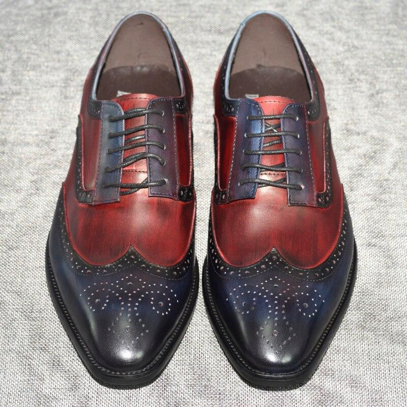 Italian Design Formal Pointed Toe Narrow Mens Shoes