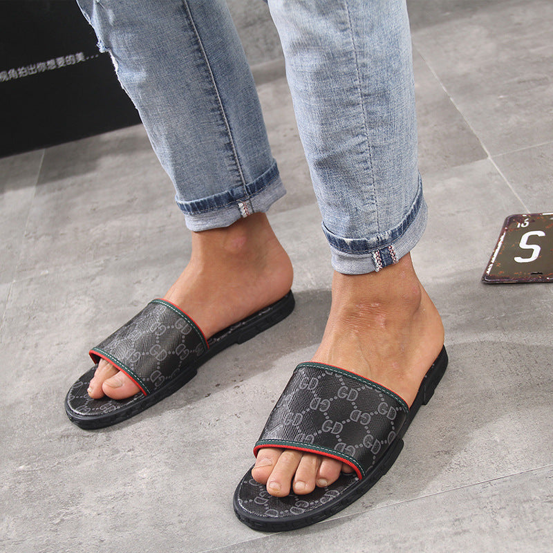 Men's Casual Printed Slippers