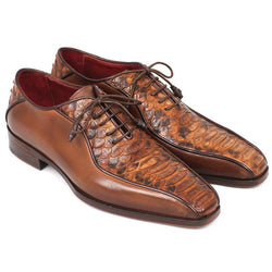Brown Crocodile Leather Oxford Shoes