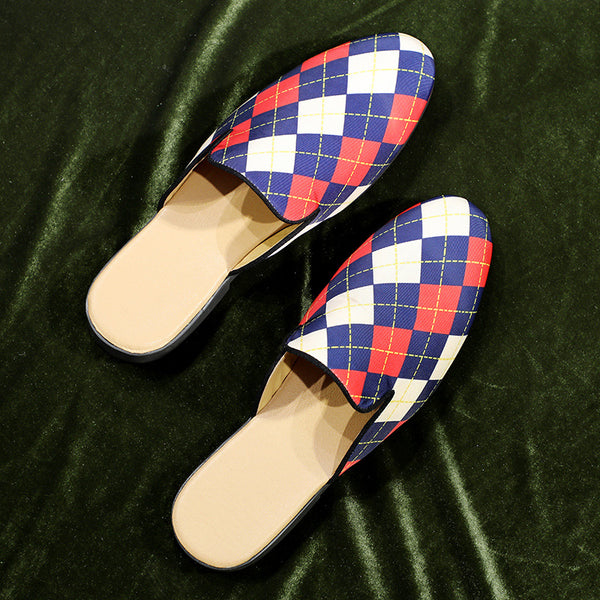 Fashion Plaid Slippers