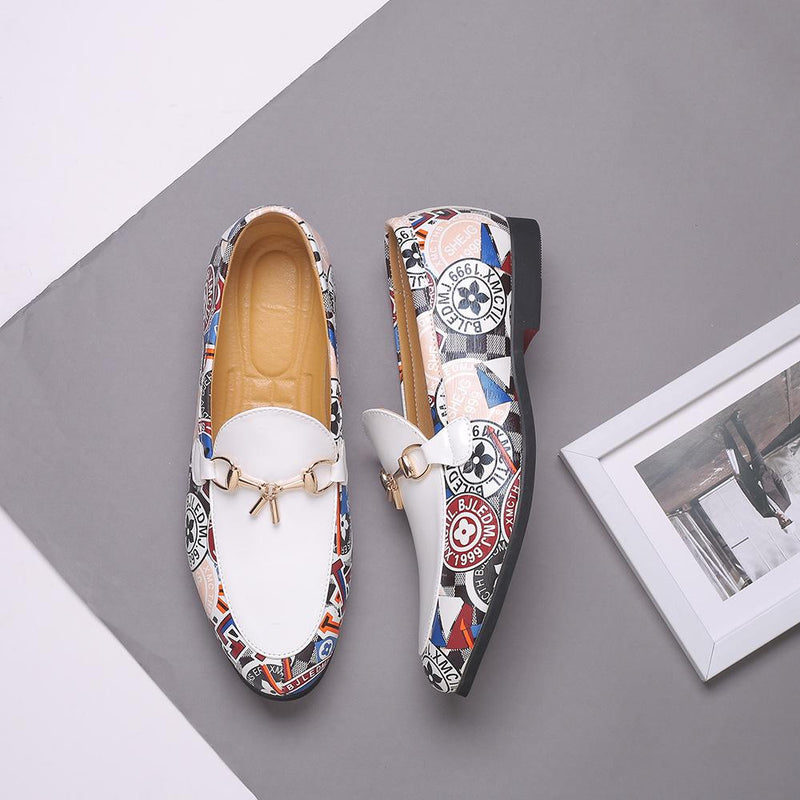 Casual Splice Flower Slip On Shoes