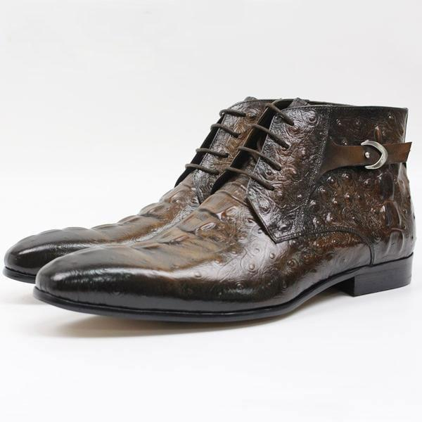 Men's Luxury Brand Leather Boots