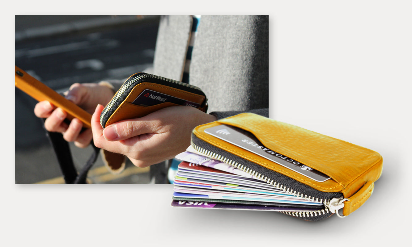 His & Hers Compact Coin Wallet Saffron Yellow