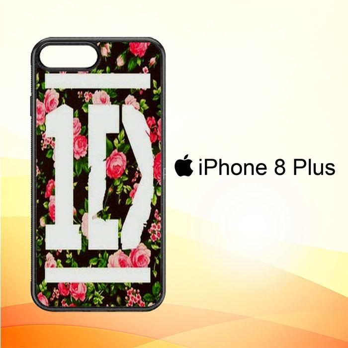 1D One Direction Floral V0288 iPhone 8 Plus Cover Cases