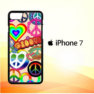 60S PEACE SIGN D0034 iPhone 7 Cover Cases