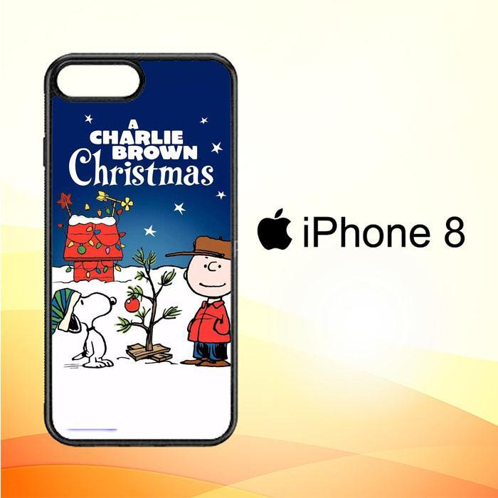 A Charlie Brown Peanuts Christmas Cartoon E0833 iPhone 8 Cover Cases
