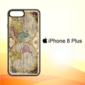 ACCURATE MAP OF THE WORLD V0691 iPhone 8 Plus Cover Cases