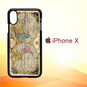 ACCURATE MAP OF THE WORLD V0691 iPhone X | iPhone XS Premium Cover Cases