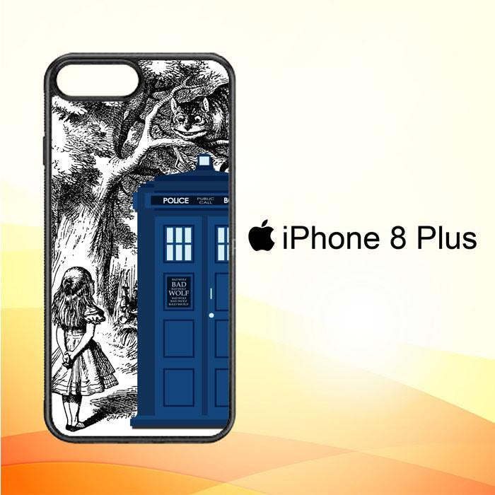 Alice In Wonderland Tardis Y0439 iPhone 8 Plus Cover Cases