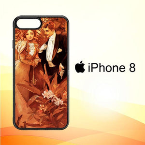 Alphonse maria mucha Y0298 iPhone 8 Cover Cases