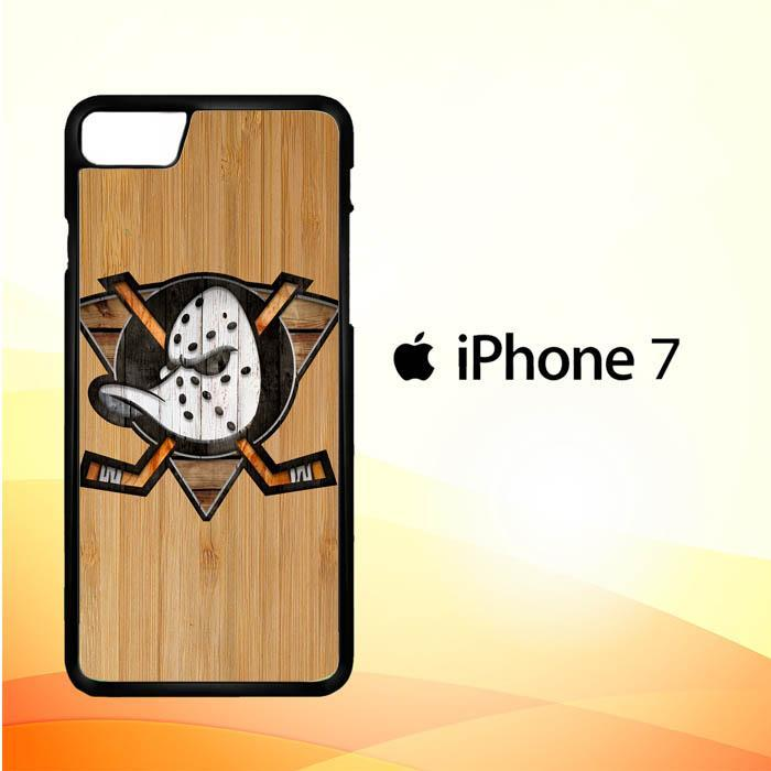 Anaheim Ducks logo wood Z4485 iPhone 7 Cover Cases