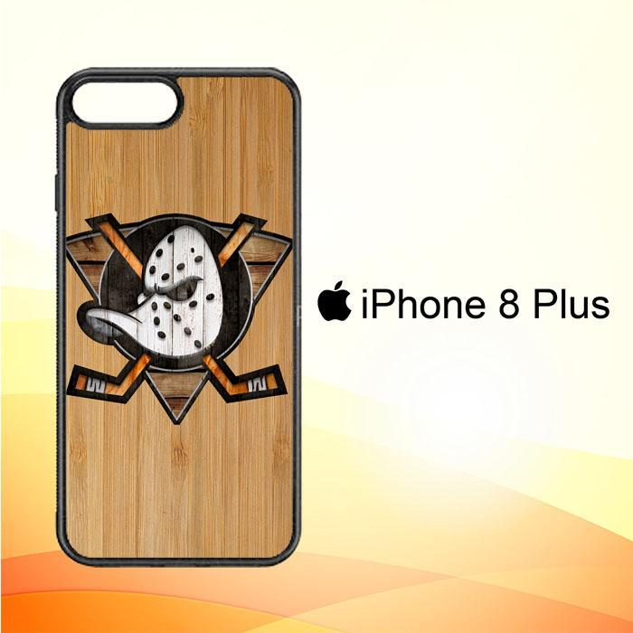 Anaheim Ducks logo wood Z4485 iPhone 8 Plus Cover Cases
