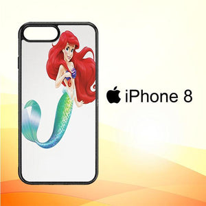 Ariel The Little Mermaid Glitter V1436 iPhone 8 Cover Cases