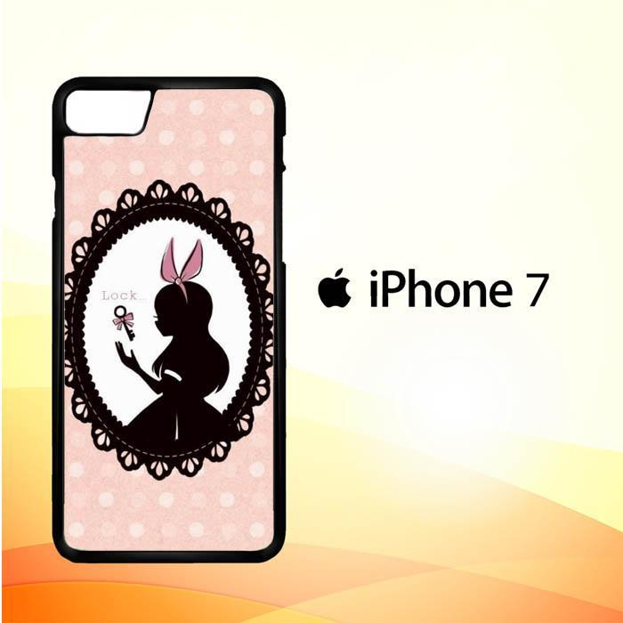 alice in wonderland W4497 iPhone 7 Cover Cases