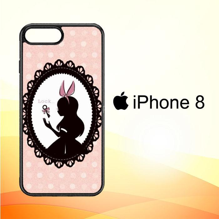 alice in wonderland W4497 iPhone 8 Cover Cases