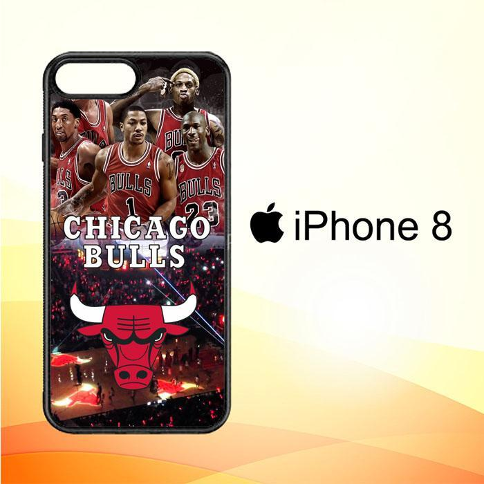 chicago bulls walpaper X3168 iPhone 8 Cover Cases