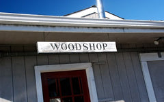 photo of woodshop sign