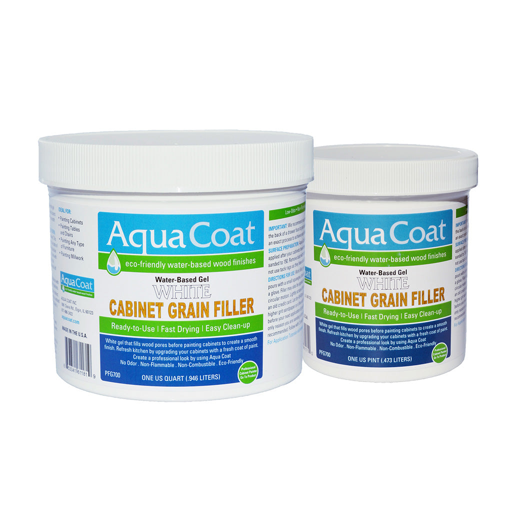 Aqua Coat WHITE Cabinet Grain Filler CASE