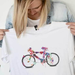 Women's Cotton Short Sleeve Bike T-Shirt