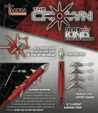 Load image into Gallery viewer, THORN CROWN 125 GRAIN FIXED BLADE BROADHEAD 3-PACK