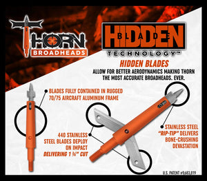 Thorn 125 Grain Expandable Broadhead 3-Pack