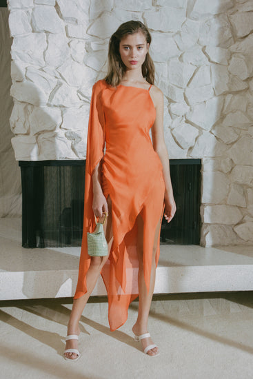 Aliza Dress - Coral (PREORDER)