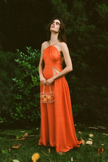 Althea Dress - Coral