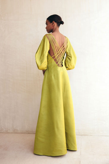 Tilda Dress - Chartreuse