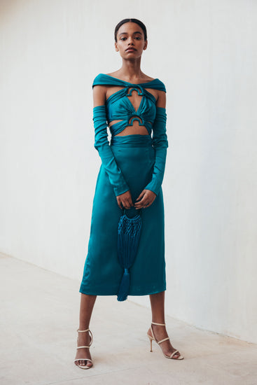 Natasha Dress - Teal