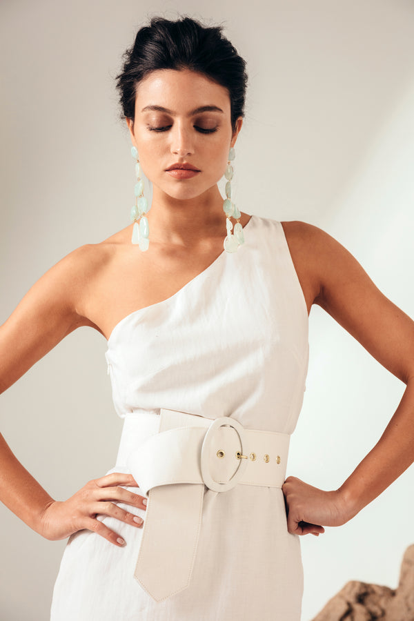 Lia Belt - Off White Linen