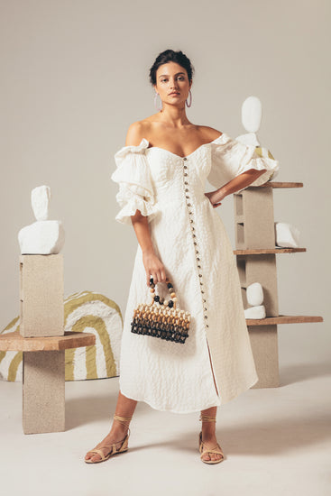 Simona Dress - Off White (PREORDER)