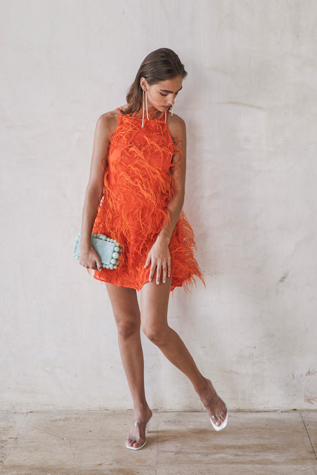 Shannon Dress - Coral