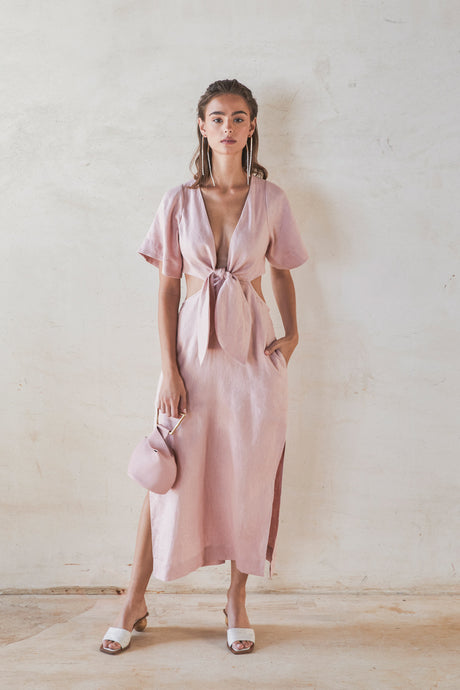 Maya Dress - Dusty Pink