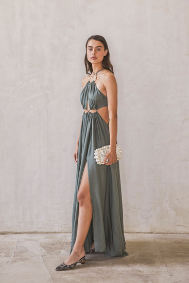 Aphrodite Grecian Gown - Seaspray (EXCLUSIVE)