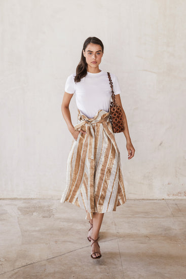 Asha Skirt - Natural Stripe (EXCLUSIVE)