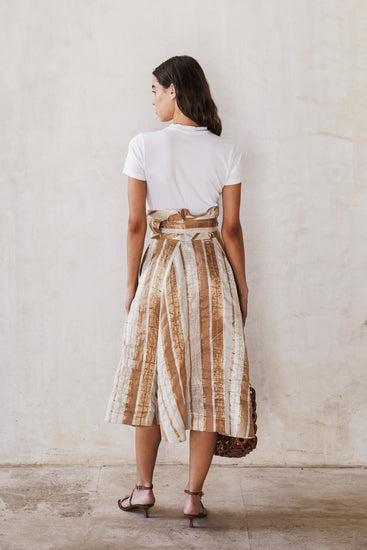 Asha Skirt - Natural Stripe