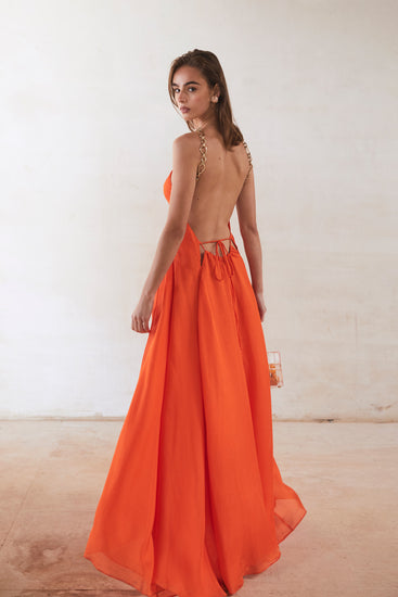 Althea Dress - Coral (PREORDER)