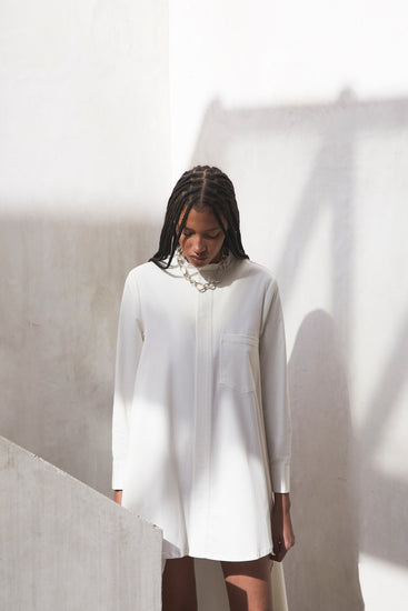 Thessaly Dress - Off White (EXCLUSIVE)