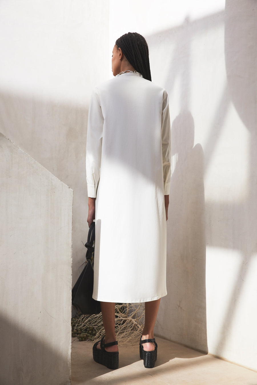 THESSALY DRESS - OFF WHITE