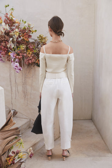 Meredith Knit Top - Off White