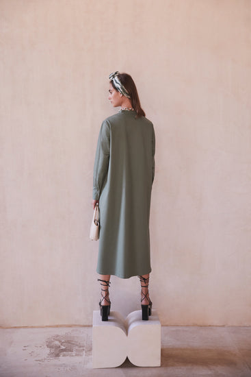 Thessaly Dress - Seaspray (EXCLUSIVE)