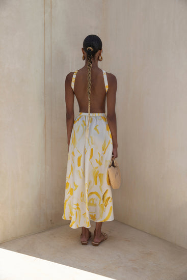 Theia Dress - Yellow Multi